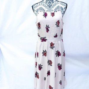ANN TAYLOR NWT A-Line Halter Light Pink Midi Dress